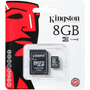 Memoria Micro Sd 8gb Kingston Clase 4 Tienda Oficial