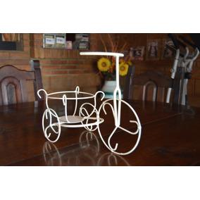 Centro De Mesa - Triciclo Artesanal De Hierro