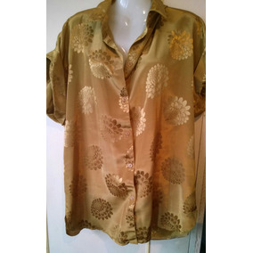 Camisa De Seda Talle M