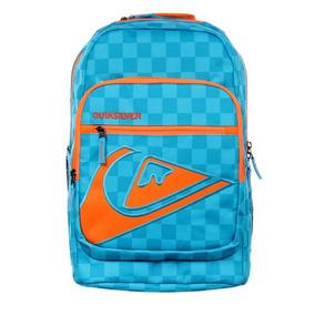 Mochila Quiksilver Schoolie Pr Neon Orange - Azul