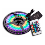 Tira De Led 5050 Rgb Rollo 5 Metros Con Control Colores Kit