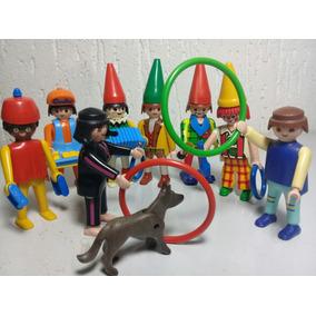 Playmobil Circo - Lote C/ 8 Bonecos E Acessórios
