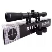 Mira Telescopica 4x20 Rifle Aire Comprimido 5.5 + Montajes