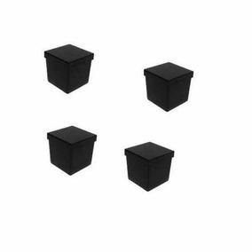 50 Caixinhas De Acrilico 5x5 P/ Lembrancinha - Preto
