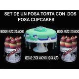 Set-un Posa Torta-dos Posa Cupcakes , Hierro,con Caireles
