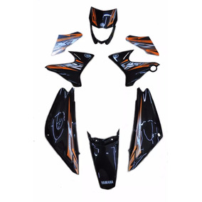 Kit Carenagem Xtz-x 125 Preto 2014 C/adesivada