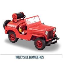 Colección Jeep Willys Cj-3a Bombero 1949-1953 1/43 Ixo