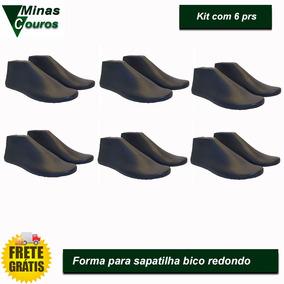Forma Para Sapatilha Bico Redondo Kit 6prs