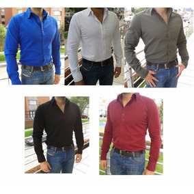 Camisa Unicolor Semi Slim Fit Ata Y Lug Original 50% Off