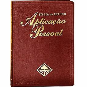 Bíblia De Estudo Aplicação Pessoal Grande - Couro Luxo Vinho