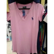 Blusinha Babylook Camisa Polo Gola V Feminino Lindas Cores