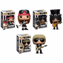 Kit 3 Pop Funko Guns N Roses: Axl Rose, Slash, Duff Mckagan