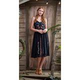 Vestido Antix Bordado Veado - 80212 (col. A Casa Na Árvore)