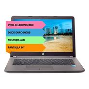Notebook Hp 240 Celeron N4000 4gb 500gb 14 Teclado Español