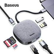 Hub Usb-c Baseus 7 En 1 Adaptador Hdmi Usb Red Sd Macbook