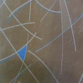 Navalhado Marcopolo Geométric Bege Azul Para Ônibus E Vans