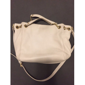 Bolsa Michael Kors Ivory Leather Cross Body - 100% Autêntica