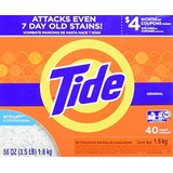 Tide Detergente En Polvo Alta Eficiencia 56 Oz 40 Cargas