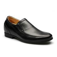 Paul Negro Mocasin 7cm Zapato Cuero Hombre Con Altura