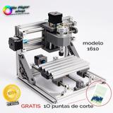 Máquina Cnc 1610 Router 16x10x4.5 Cm Fresado Grabado Y Corte