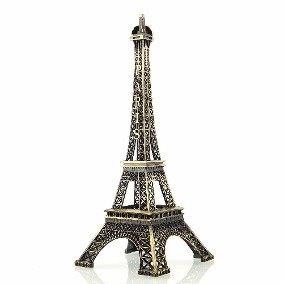 Kit 5 Enfeites Miniaturas Torre Eiffel Metal Paris 25cm