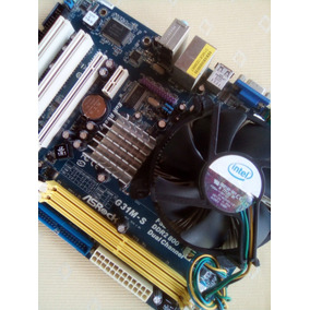 Tarjeta Madre Ddr2 Asrock G31m-s Y Cpu Dual Core 2.66 Ghz
