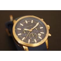 Reloj Michael Kors Dorado/marino Envío Gratis!!
