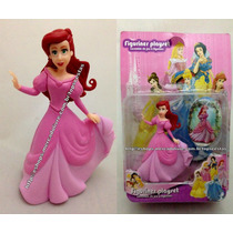 Miniatura Boneca Princesa Ariel Vestido Baile Pequena Sereia