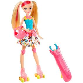 Boneca Barbie Patinadora Filme Video Game Hero Mattel