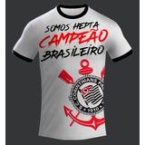 Camisa Corinthians Somoshepta Campeão Brasileiro 2017 Branca