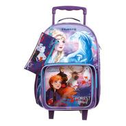 Kit Escolar Mala + Lancheira + Estojo Frozen Disney