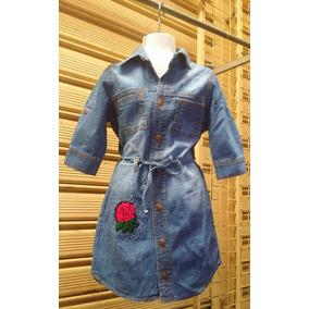 Vestios De Jeans Para Niñas 2, 4, 6, 8, 10, 12 Y 14