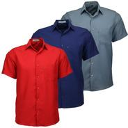 Kit 3 Camisas Masculina Não Amassa C Bolso Otimo Present 440