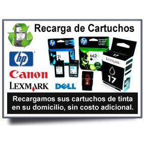 Recargas De Cartuchos Canon,hp,lexmark A Domicilio
