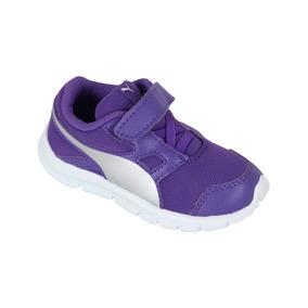 Zapato Puma Casual Flexracer Bebé- Violeta