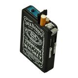 Cigarrera Metalica Encendedor Jack Daniel