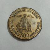 Moneda 500 Morocotas Hombre Los Andes 1930-1984 Merida