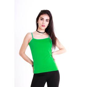 Musculosa De Modal Bretel Raso Todos Los Colores Casa Andrea