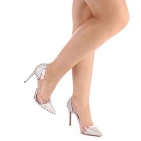 Sapato Scarpin Feminino Lara - Prata