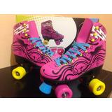 Patines Roller Skates De 4 Ruedas Clásicos Decorados