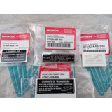Kit Etiqueta Precaução Original Honda Today 90 91 92 93 94