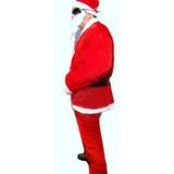 Roupa Papai Noel Completa Natal E Natalino Gorro Com 5 Pecas