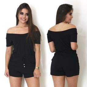 Macaquinho Ombro A Ombro Curto Feminino Moda Trend Verão 054