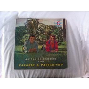 Lp Gaiola De Sucessos Com Canário E Passarinho Disco Vinil