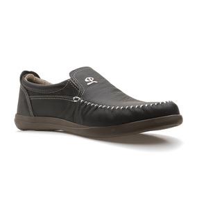 Zapato De Hombre Náutico Cuero Gris