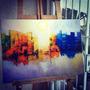 Cuadros Abstractos A Mano- Bastidor 50x70 -pintura