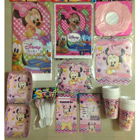 Kit Decoracion Piñata Fiesta Infantil Minnie Mouse Baby