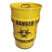 Lixeira Domestica Tambor Decorativo Danger Perigo Tonel