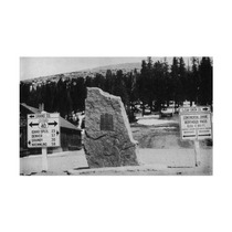 Co, Continental Divide Marker At Berthoud Pass Print, 24 X
