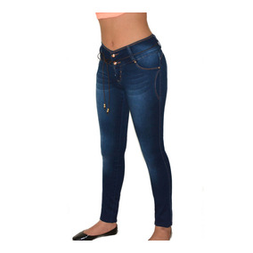 Jeans Colombianos Diseño Push Up Levantpompa Cadera Cinturon